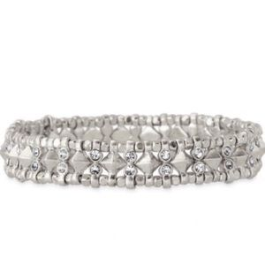 Stella & Dot Silver Arrison Stretch Bracelet